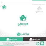 okam_free03さんの学びを通じてキャリアアップを目指す人のためのWebメディア「LearnUp」のロゴ&ファビコンへの提案
