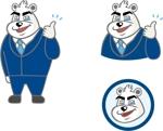 iam_kekeさんのスーツを着た白クマのキャラクターデザインへの提案