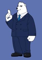 chocopさんのスーツを着た白クマのキャラクターデザインへの提案