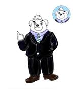 sachikoytaiheiji172さんのスーツを着た白クマのキャラクターデザインへの提案