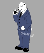 naachasoさんのスーツを着た白クマのキャラクターデザインへの提案