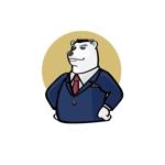 free-birdさんのスーツを着た白クマのキャラクターデザインへの提案