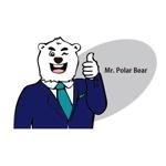 renardさんのスーツを着た白クマのキャラクターデザインへの提案