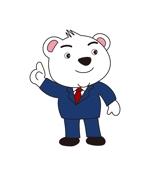 yamaguchi_adさんのスーツを着た白クマのキャラクターデザインへの提案