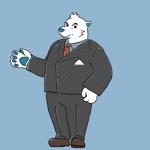 Cashmereyellowさんのスーツを着た白クマのキャラクターデザインへの提案