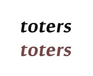 haruka0115322さんのトートバッグ、Tシャツ、ポロシャツ等のブランド「toters」のロゴへの提案