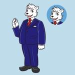 hachibiさんのスーツを着た白クマのキャラクターデザインへの提案