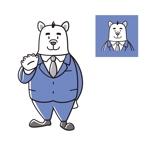 nekofuさんのスーツを着た白クマのキャラクターデザインへの提案