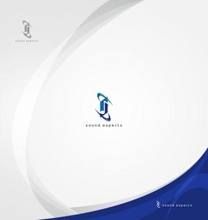 Cobalt_B1ueさんの【選定確約】インターネット関連事業新会社「株式会社サウンドアスペクツ」の会社ロゴ制作依頼への提案