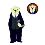 mama-mamekoさんのスーツを着た白クマのキャラクターデザインへの提案