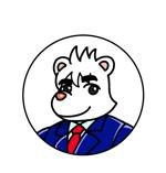 HUYUTUKIさんのスーツを着た白クマのキャラクターデザインへの提案
