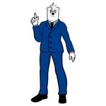 suresystemさんのスーツを着た白クマのキャラクターデザインへの提案