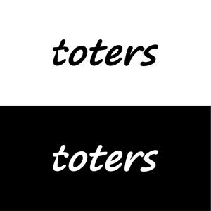 nabeさんのトートバッグ、Tシャツ、ポロシャツ等のブランド「toters」のロゴへの提案