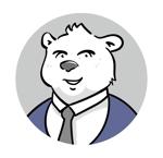 cocoloco_dhさんのスーツを着た白クマのキャラクターデザインへの提案