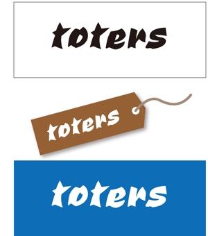 taki-5000さんのトートバッグ、Tシャツ、ポロシャツ等のブランド「toters」のロゴへの提案