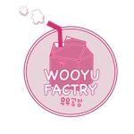 RIKUさんのオープン予定のテイクアウト専門K-POPカフェ「Wooyu Factory」のロゴ制作への提案