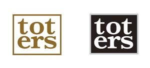 RYOQUVOさんのトートバッグ、Tシャツ、ポロシャツ等のブランド「toters」のロゴへの提案