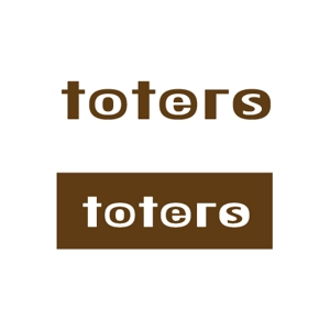 smdsさんのトートバッグ、Tシャツ、ポロシャツ等のブランド「toters」のロゴへの提案