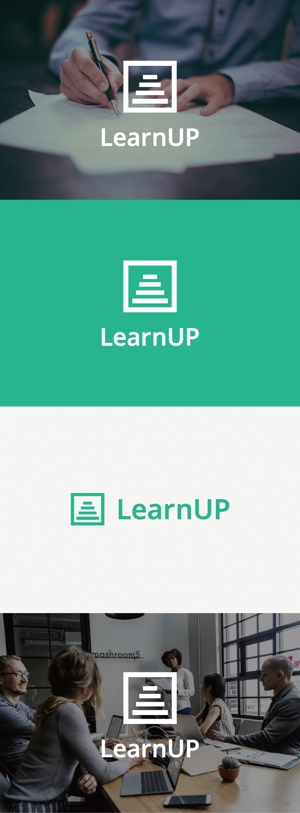 tanaka10さんの学びを通じてキャリアアップを目指す人のためのWebメディア「LearnUp」のロゴ&ファビコンへの提案