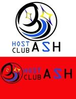 qcookoさんのホストクラブ「ASH」のロゴへの提案