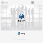 onesizefitsallさんの不動産会社新規設立『株式会社BizTry』のロゴへの提案