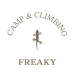 キャンプ用品とボルダリングジム「CAMP & CLIMBING FREAKY」のロゴへの提案