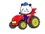 toshi-morimoriさんのパンダがトラクターに乗っているマスコットキャラクターデザインへの提案