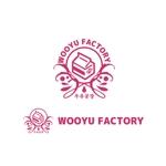 saki8さんのオープン予定のテイクアウト専門K-POPカフェ「Wooyu Factory」のロゴ制作への提案