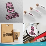 nekosuさんのオープン予定のテイクアウト専門K-POPカフェ「Wooyu Factory」のロゴ制作への提案