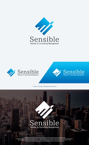 take5-designさんのセミナー、コンサルティング運営会社「Sensible」のロゴへの提案