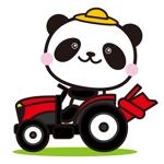 shizuku45さんのパンダがトラクターに乗っているマスコットキャラクターデザインへの提案