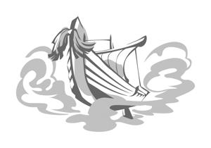 miomiopom_1008さんの日本酒「大阪空舟」の筆文字ロゴと和船の絵、どちらかだけでもOKへの提案