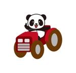 yamaguchi_adさんのパンダがトラクターに乗っているマスコットキャラクターデザインへの提案