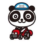 koseiさんのパンダがトラクターに乗っているマスコットキャラクターデザインへの提案