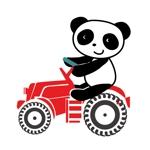 komono88さんのパンダがトラクターに乗っているマスコットキャラクターデザインへの提案