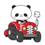 p-tanさんのパンダがトラクターに乗っているマスコットキャラクターデザインへの提案