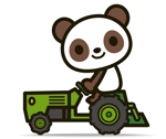 the_watanabakeryさんのパンダがトラクターに乗っているマスコットキャラクターデザインへの提案
