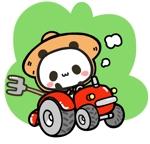 Shirokujiraさんのパンダがトラクターに乗っているマスコットキャラクターデザインへの提案
