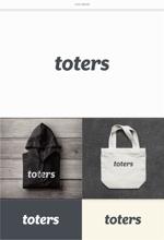 DeeDeeGraphicsさんのトートバッグ、Tシャツ、ポロシャツ等のブランド「toters」のロゴへの提案