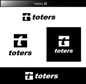 FISHERMANさんのトートバッグ、Tシャツ、ポロシャツ等のブランド「toters」のロゴへの提案