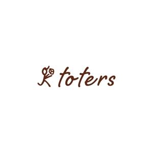 taiyakisanさんのトートバッグ、Tシャツ、ポロシャツ等のブランド「toters」のロゴへの提案