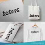 nekosuさんのトートバッグ、Tシャツ、ポロシャツ等のブランド「toters」のロゴへの提案