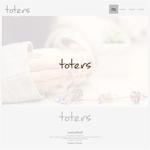 onesizefitsallさんのトートバッグ、Tシャツ、ポロシャツ等のブランド「toters」のロゴへの提案