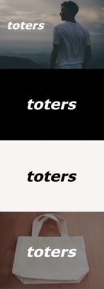 tanaka10さんのトートバッグ、Tシャツ、ポロシャツ等のブランド「toters」のロゴへの提案