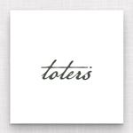 maharo77さんのトートバッグ、Tシャツ、ポロシャツ等のブランド「toters」のロゴへの提案