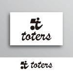 White-designさんのトートバッグ、Tシャツ、ポロシャツ等のブランド「toters」のロゴへの提案