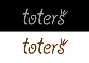 threewheelsさんのトートバッグ、Tシャツ、ポロシャツ等のブランド「toters」のロゴへの提案