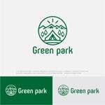 drkigawaさんの人気アウトドア複合施設 グリーンパーク山東のロゴへの提案