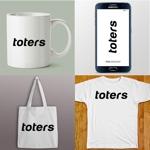 queuecatさんのトートバッグ、Tシャツ、ポロシャツ等のブランド「toters」のロゴへの提案