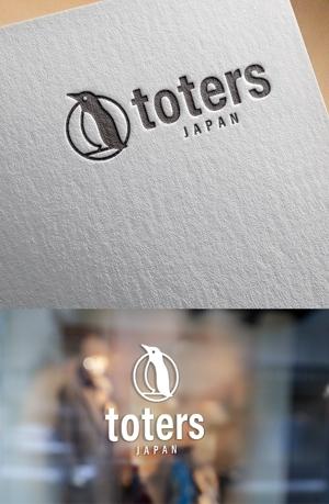 ns_worksさんのトートバッグ、Tシャツ、ポロシャツ等のブランド「toters」のロゴへの提案